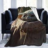 kangconnie03 Star Wars Master Yoda Babydecke , Superweiches Fleece Warme Flauschige Decken Pflegeleicht zu jeder Jahreszeit Geeignete Qualität