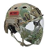 OneTigris Taktische Helm mit Maske und Schutzbrille für Softair