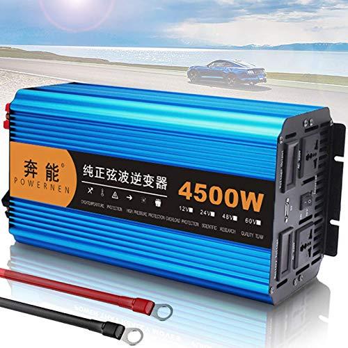 QTCD Pure Sine Wave Inverter 3000W 4500W 6000W 8000W Power Inverter DC 12V to AC 220V 230V 240V Voltage Transformer, Power Inverter with AC Socket and USB Port for Travel Trip,4500W