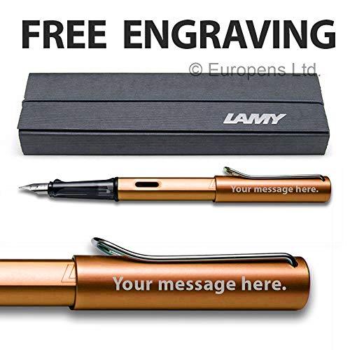 Lamy AL-star - Pluma estilográfica personalizable con grabado de bronce punta fina