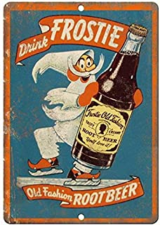 Frostie Old Fashion Root Beer Ad Old Style Beer Vintage Looking Bar Pub Coffee House Metal Tin Sign 8X12 Inches