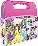 Educa - Princesas Disney Maleta, Conjunto de Puzzles Progresivos, Multicolor (16508)
