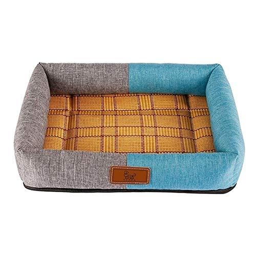 mdtep Cama para mascotas de verano para perros, cómoda y duradera, lavable (color: B, tamaño: S)