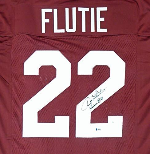 "Boston College Eagles Doug Flutie Autographed Red Jersey""Heisman 84"" Beckett BAS"