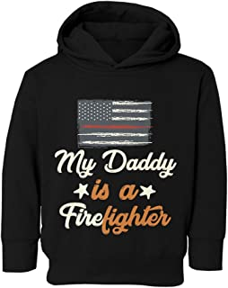 Fireman Daddy is A Firefighter Graphic Youth & Toddler Hoodie Sweatshirt