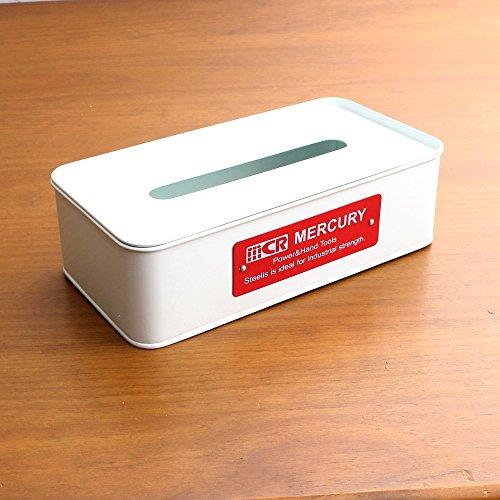 【mercury/マーキュリー】「ブリキティッシュボックス」(95-c117) ホワイト