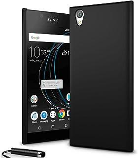 24/7 Oliver Sony Xperia L1 hårt fodral ultratunt skal bakskal + Sony Xperia L1 skärmskydd + Stylus (svart)