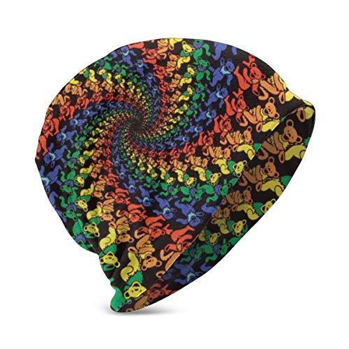 Lawenp Baby Knit Hat Tie Dye Bear Design Soft Warm Cute Hat Gorras para nios nias de 3 a 10 aos