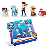 PAW Patrol Blister 5-Pack Figures with Stampers – Mess-Free, Paw Patrol Birthday Cake Toopers Decorations, Party Favors – Including Robo Dog and Everest – Mini Figurines Stand 2.5 to 3 in. Tall
