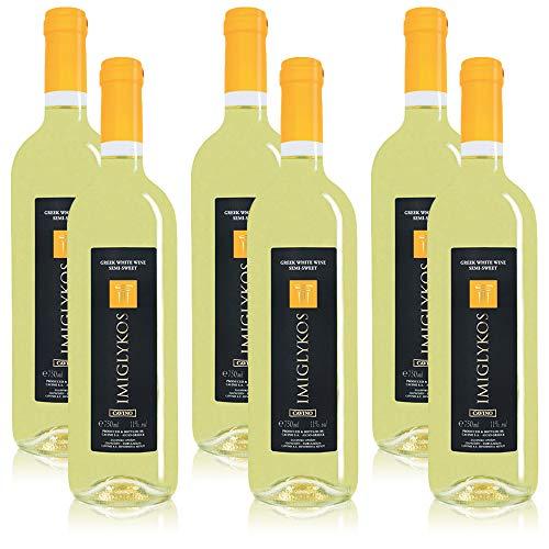 6 Flaschen Imiglykos Cavino griechischer Weisswein, lieblich (6 x 0,75 l)