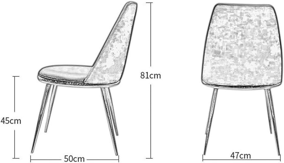 Chaise à dîner Chaise d'appoint en cuir Chaise avec fer style pieds en métal for salle à manger, Salon, Cuisine (Color : White) Brown