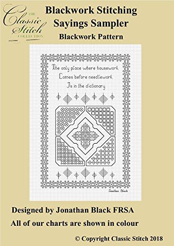 Blackwork Stitching Sayings Sampler Blackwork Pattern (English Edition)