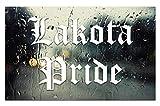 Lakota Pride Decal - 8.5' car Window Sticker for JDM KDM Slammed Race Drift Stance etc - Unique Look - Will not Fade