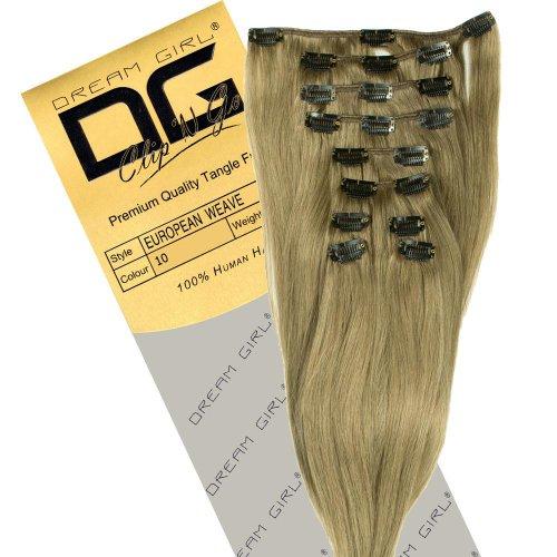 Dream Girl Extensions capillaires à clipser Couleur 10 35 cm