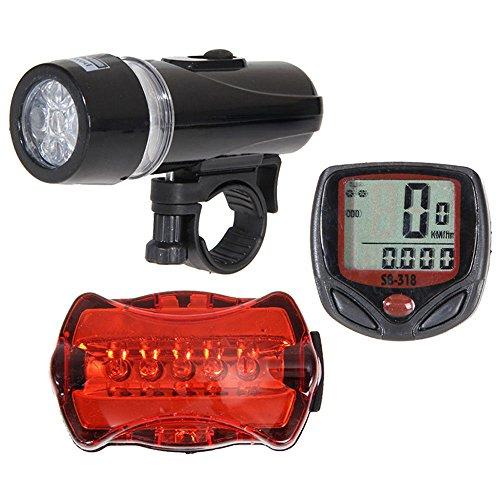 SHUANGA LED Fahrradlicht USB Wiederaufladbare Fahrradbeleuchtung Fahrradlicht Vorne Rücklicht Set, Wasserdicht Fahrradlichter Set Fahrrad Licht Fahrradlampe mit 17 Licht-Modi