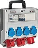 Brennenstuhl Wandverteiler IP44 (Stromverteiler zur Wandbefestigung 16A, mit FI-Personenschutzschalter 30mA)