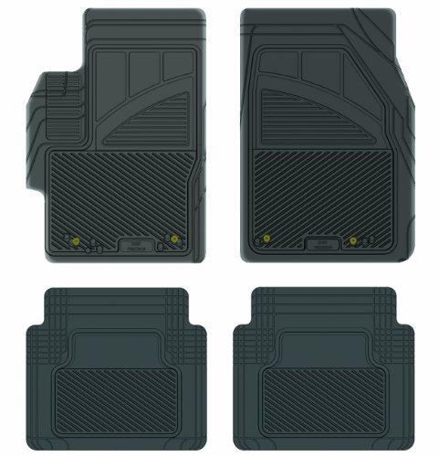 Koolatron Pants Saver Custom Fit 4 Piece All Weather Car Mat for Select Mazda 6 Models (Black)