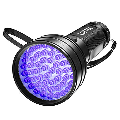 LOFTEK UV Flashlight Black Light, 51 LED 395 nM Ultraviolet Flashlight Perfect Detector for Pet (Dog and Cat ) Urine, Dry Stains and Bed Bug, Handheld Blacklight for Scorpion Hunting