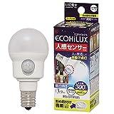 エコルクス 人感センサー LED電球 3.4W 昼白色 斜め取付け LDA4N‐H‐E17SH 箱1個