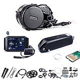 Bafang Mid Drive Motor Kit 48V 750W 100MM Ebike Elektromotor Umrüstsatz mit Batterie für Rennrad Pendlerfahrrad mit Fahrradcomputer, DIY Fahrradkonverter Motor Kit