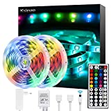 Ksipze Striscia LED 10M RGB LED Colorati Luci Led Light Strip con 44 Tasti telecomando Lum...