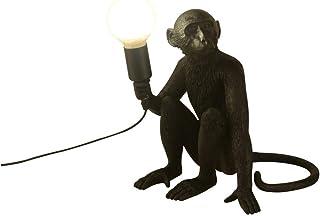 Best CHABEI Modern Table Light, Monkey Desk Lamp, Resin Sitting Monkey Lighting Fixture for Living Room, Bedroom, Office, College Dorm (Black) Review
