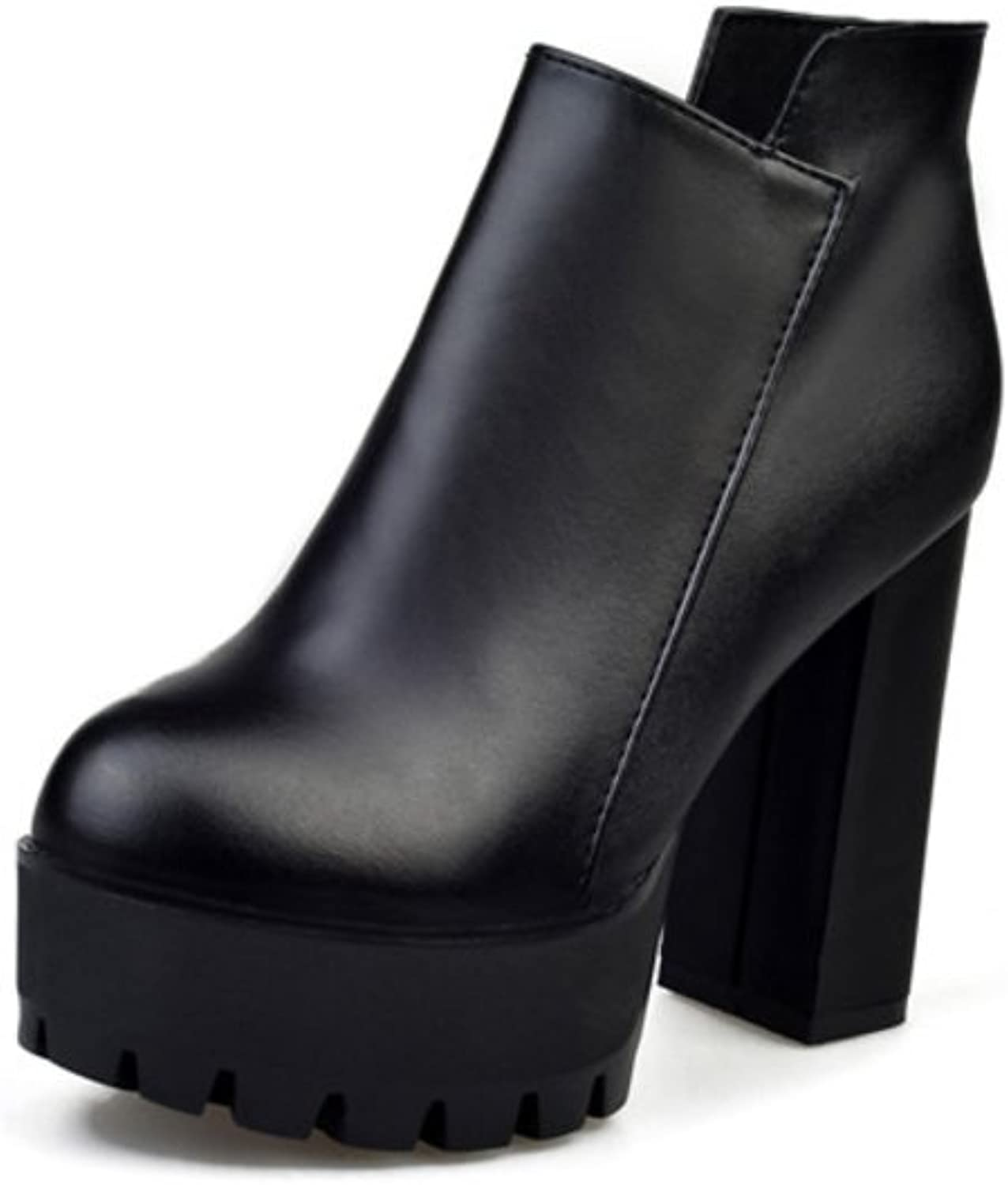 Autumn ladies short boots English style fashion sexy thick with Martin boots pointy high heels boots