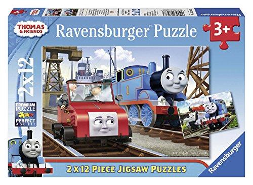 Thomas & friends - Puzzle, 2 x 12 piezas (Ravensburger 07568 3) , Modelos/colores Surtidos, 1 Unidad