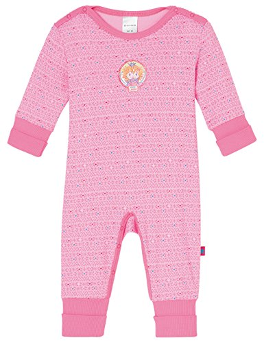 Schiesser AG Schiesser Baby-Mädchen Prinzessin Lillifee Anzug mit Vario Einteiliger Schlafanzug, Rot (rosé 506), 68 (Herstellergröße: 068)