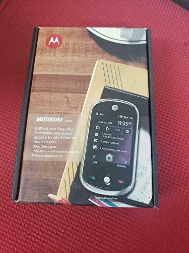 Motorola MOTOSURF A3100 GSM Unlocked Mobile Cellphone (Midnight Black with Summit Gold) - International Version No Warranty