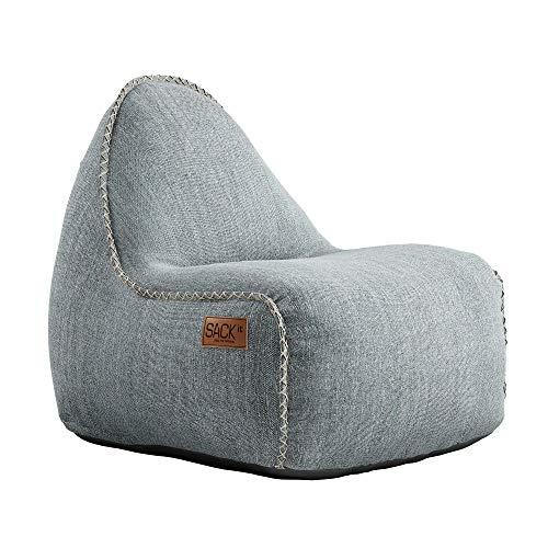 SACKit - RETROit Cobana Junior Sand Melange - Indoor/Outdoor Sitzsack für Kinder. Sessel mit Lehne. Für das Kinderzimmer oder Gaming im Jugendzimmer - Kombinierbar mit einem Hocker
