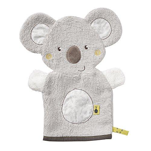 Fehn 064186 Waschhandschuh Koala / Waschlappen mit Tiermotiv für fröhlichen Badespaß, für Babys und Kinder ab 0+ Monaten