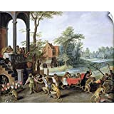 CANVAS ON DEMAND A Satire of The Folly of Tulip Mania Wall Decal, Artwork