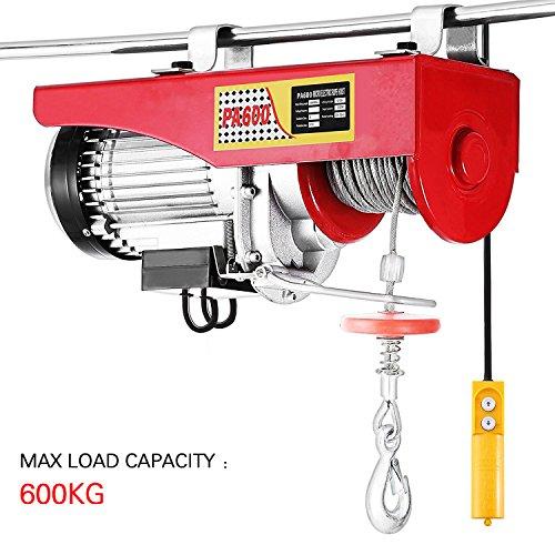 Elektrisches Hebezeug, 600 kg, Seilhebezug, 230 V, 12 m, automatisch für die Installation von Ausrüstung, Hubelementen, mechanischer Traktion (600 kg / 1050 W)