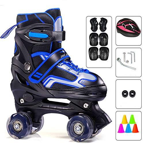 Quad rolschaatsen voor tieners, verstelbare rolschaats ademend voor tieners, lichtgewicht comfortabele schaatsen, drievoudige bescherming, kinderveiligheid ontwerp