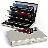 igadgitz U5345 Ultradünne Edelstahl RFID Blockierende Kreditkarte Halter Kreditkarteninhaber Businesskarten Brieftasche Schutzhülle