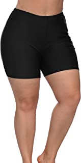 Sociala Women's Plus Size Swim Shorts High Waisted...