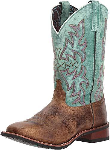 "Laredo Womens Anita Western Cowboy Dress Boots Mid Calf Low Heel 1-2"" - Brown - Size 9 B"
