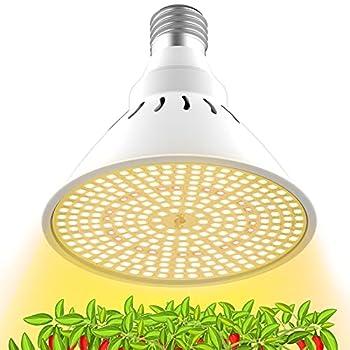 LED Grow Light Bulb for Indoor Plants Full Spectrum White Plant Light Bulb for Seedling Veg Flower E26 Grow Bulb by Lonwon  290 LEDs