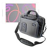 DURAGADGET Maletín con Diseño Innovador para Tablet BQ Aquaris M8 - En Color Negro Y Azul
