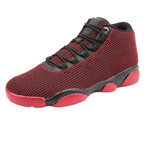 Bluestercool Herren Basketballschuhe Laufschuhe Oberfläche Nette Gym Fitness Running Shoes rutschfest atmungsaktiv Sneaker Sportschuhe 40 EU rot