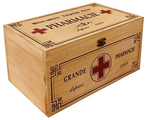 Nieuwe Vintage Stijl Eerste Hulp Kit Houten Doos - Groot