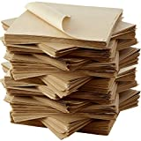 Eco Friendly, Grease Proof 12' x 12' Deli Wrap 100 Pk. Best Kraft Food Wrapping Paper Sheets for Picnic, Festival, Fair or BBQ. Perfect Liner for Tray, Basket or Boat. Quality Bulk Restaurant Supply