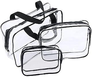 Neceser Transparente, JTDEAL Bolsa Impermeable de PVC (3pcs