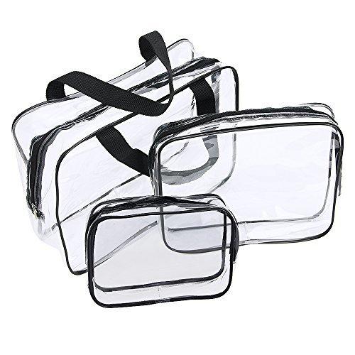 Neceser Transparente, JTDEAL Bolsa Impermeable de PVC (3pcs ), Bolsa de Cosmético...