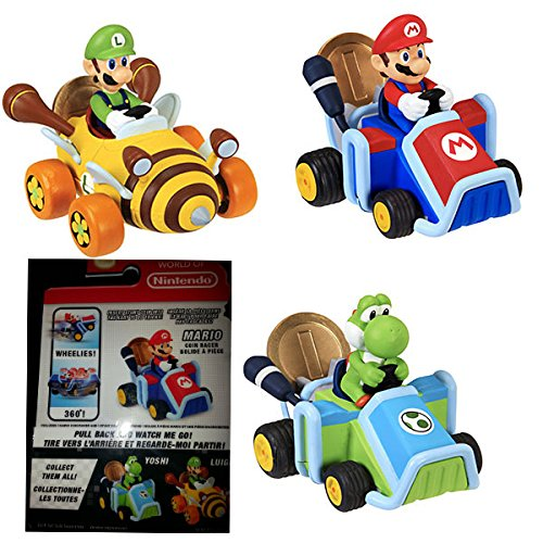 Nintendo 69278-4L Super Mario Coin Racers Wave 1, Rot
