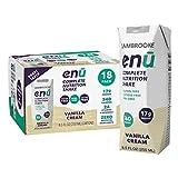 ENU RTD Vanilla Whey Protein Shake 17g (18 Pack)   Lactose & Gluten Free, Non-GMO Workout Drink For...