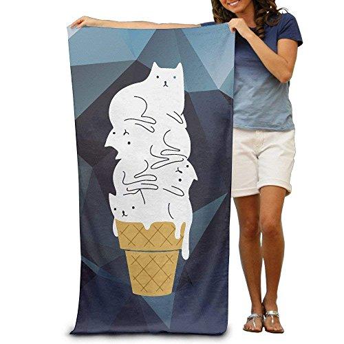 Sula-Lit Strandtuch Katze Katzen Eis Mikrofaser-Handtuch
