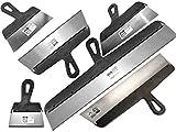 6 Piezas - espátula para enlucir para paneles de yeso, espátula, cuchillos, espátula, e...