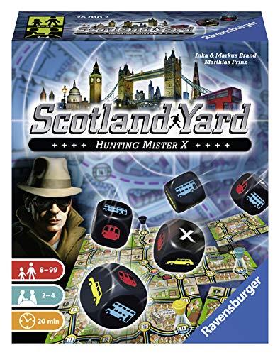Ravensburger 26010 - Scotland Yard, Das Würfelspiel für 2-4 Spieler, Klassiker, Kinder und Erwachsene ab 8 Jahren
